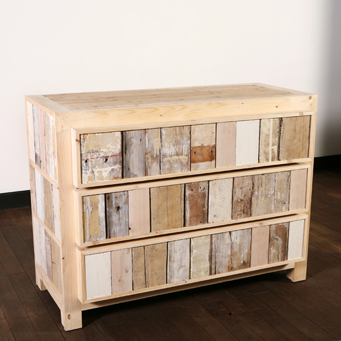 scrap wood cupboard  3drawrs