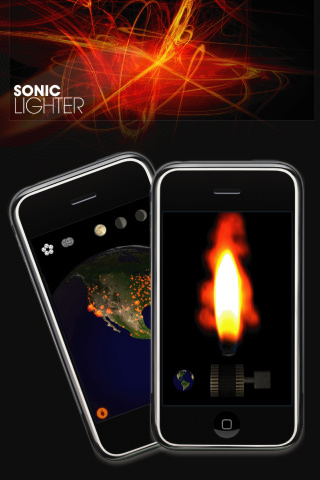 아이폰용 시뮬(smule)의 소닉라이터(Sonic Lighter)