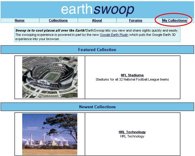 구글어스 플러그인 응용 EarthSwoop - 초기화면