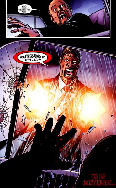 그녀를 자신으로부터 지켜내지 못한 나이트윙에게 분노한 하비덴트 ⓒ DC COMICS