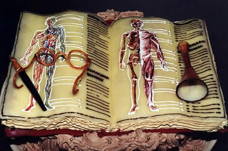 이런 신체 해부도 케이크네. ㅋㅋ