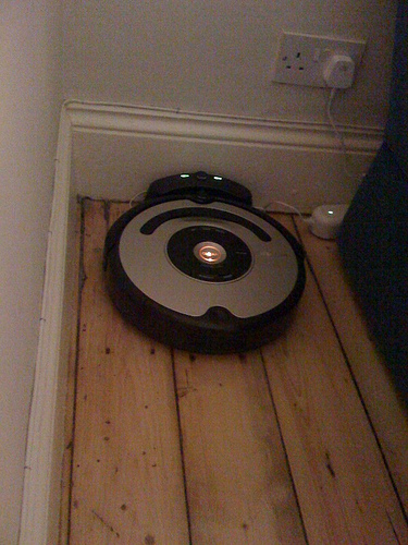 Roomba feeding itself