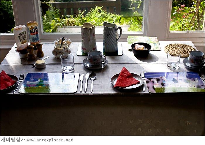 B&B에서의 아침 식사
