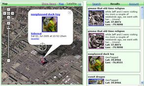 구글맵과 플리커의 매쉬업