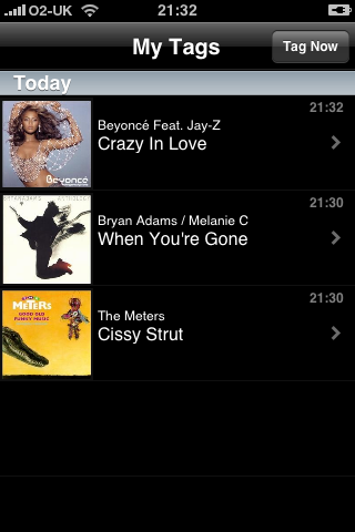 iPhone Apps - Shazam: Tagged Music
