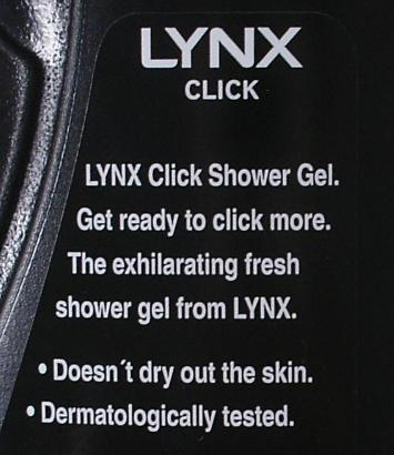 Lynx Click - Shower Gel for Digital Age?